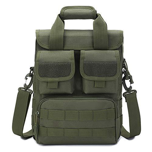HKHJN Outdoor Taktische Handtasche A4 Tasche Pendler Umhängetasche Armee Fan Tarnung Messenger Bag Herren Werkzeugtasche Mutter Tasche HKHJN (Color : Army Green, Size : Onre Size)