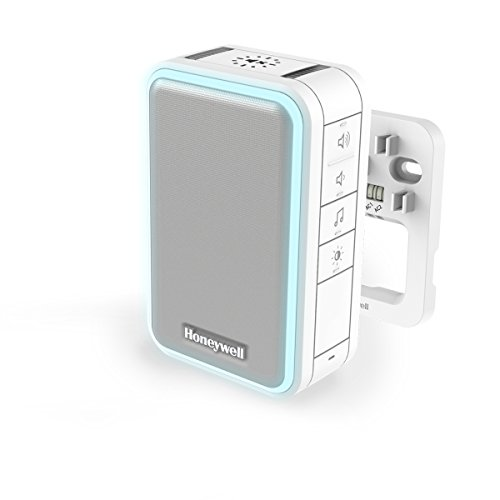 Honeywell Home 6-Klang gong, deurbel, met led-flitslicht, volumeregeling en slaap-/stummodus DW315S, wit