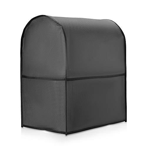 kwmobile Cover Protettiva Compatibile con KitchenAid 5,6-7,5 Litri - Copertina 2in1 Protezione 3X Scomparti Porta Utensili da Cucina Grigio Scuro