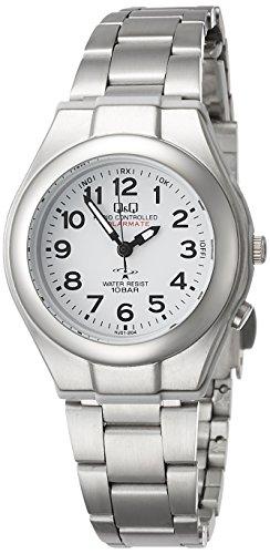 [シチズン Q&Q] 腕時計 アナログ 電波 ソーラー 防水 メタルバンド HJ01-204 レディース ホワイト
