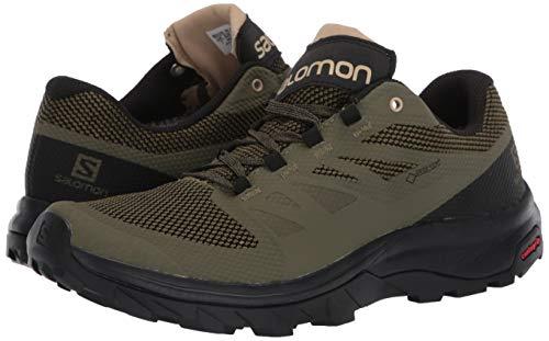 Salomon Men's Outline GTX Hiking, Burnt Olive/Black/Safari, 10
