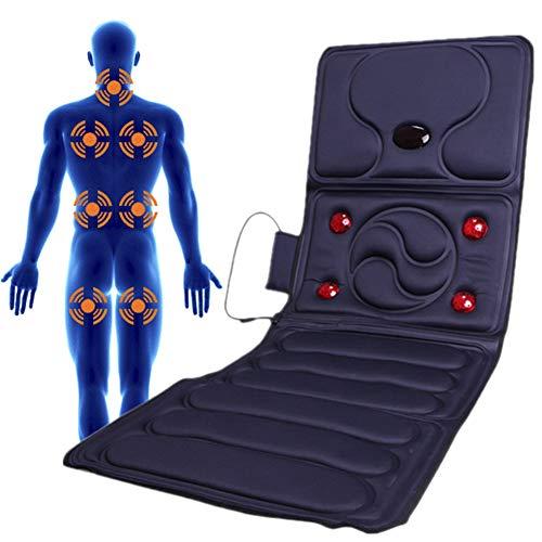 HGJDKSJ Elektrische massagemat, verstelbaar, verwarmd massagekussen, om stress in het hele lichaam af te bouwen, thuis, op kantoor, tijdens het zitten en liggen.