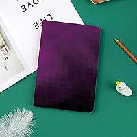 軽量版 iPad Pro 11 ケース 極薄軽量 2つ折りスタンド 磁気吸着式 オートスリープ機能 傷つけ防止 手帳型 2018秋発売のiPad Pro 11に対応 スマートカバーモダンアート風の色あせたカラースキームで抽象的な紫色の正方形装飾的なスタイルPixelart装飾的な