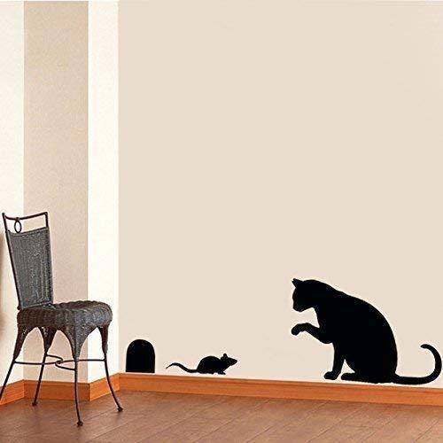 Katze & Maus Schablone Heim Wand Dekor Farbe Wände Stoff und Möbel wiederverwendbar Kunst Handwerk - halb transparent schablone, L/Cat Height/29cm