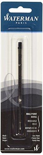 Waterman Ballpoint Refill for Ballpoint Pens, Fine point, Black ink (734254)