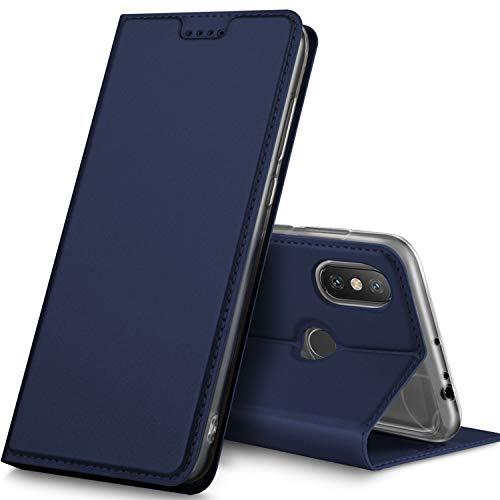 GeeMai Xiaomi MI Max 3 Hülle, Premium Flip Case Tasche Cover Hüllen mit Magnetverschluss [Standfunktion] Schutzhülle Handyhülle für Xiaomi MI Max 3 Smartphone, Blau
