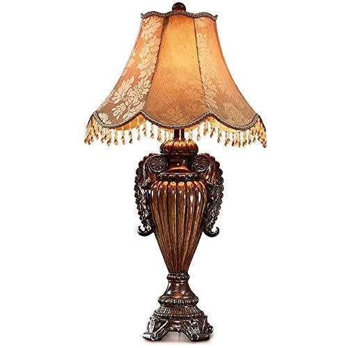 QXinjinxtd Lámparas para habitaciones Lámpara europea retro tabla, dormitorio de noche Resina luz del escritorio, sala de estar, iluminación de la decoración de la antigüedad, luz de la noche, la lumi