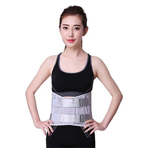 Hhjkl Cinturón Lumbar Paneles Unisex Ajustable elástico en la Espalda Lumbar Apoyo de la...