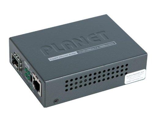 Planet GT-805A–Medienkonverter 10/100/1000Base-T zu 1000Base-SX/LX Gigabit, Schwarz