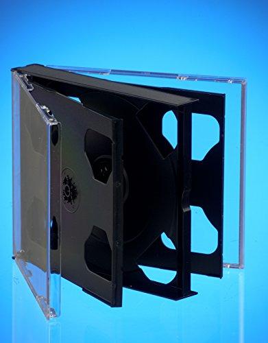 Dragon Trading CD-/DVD-Hüllen für 6 CDs, 25 mm, mit schwarzem Einsatz, 10 Stück