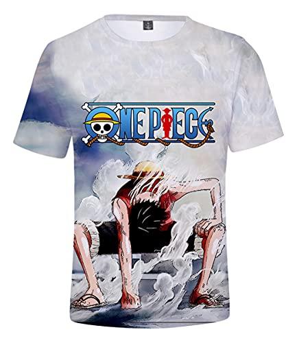 magliette uomo one piece Hifoda Maglietta Uomo One Piece T-Shirt Pirata Creativa Manica Corta con Grafica 3D (L)