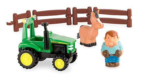 Tomy John Deere Plezier met de tractor speelset – boerderijset om te spelen voor binnen en buiten – voor peuters vanaf 12 maanden