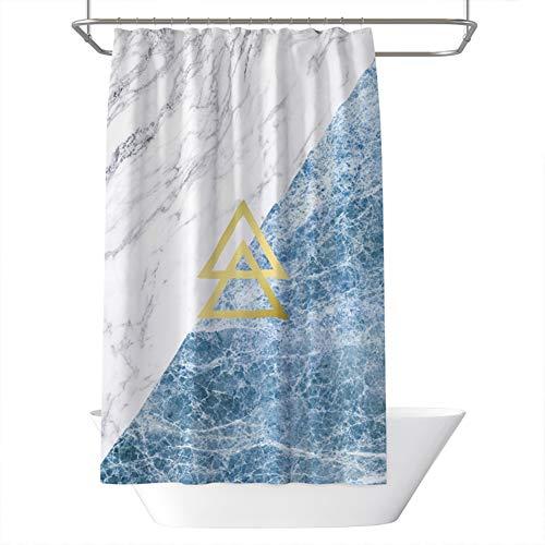 Cleave Gordijn voor de badkamer, model gepersonaliseerd creatieve vormgeving van creatieve driehoekige stenen van waterafstotend en duurzaam polyester, douchegordijn met 12 kunststof C-vormige gespen