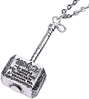 YZAM Marvel Comics Thor's Hammer Pendant Silver Color Necklace