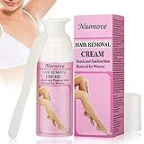 Crema Depilatoria Mujer, Crema Depiladora, Hair Removal Cream, Depilación para pieles suaves y duraderas, axilas corporales, piernas, área del bikini, 100 ml
