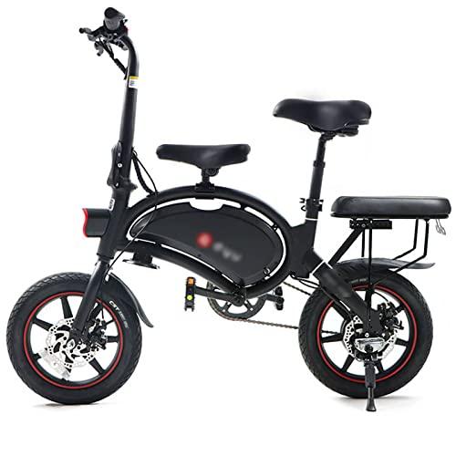 LACALA Bicicleta eléctrica Plegable para Coche eléctrico Inteligente de Dos Ruedas, Bicicleta eléctrica con Pedales para Adultos, neumáticos neumáticos