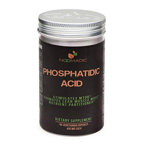 Phosphatidic Acid (PA), 60 Capsules | 400mg Each, Natural Anabolic, Lean Mass Gainer, Muscle Builder, Protein Synthesis Booster, mTOR Activity, Standardized to 20% Phosphatidic Acid.
