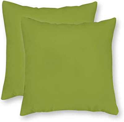 40x40cm Set of 2 Green Pillow Cover Green Canvas Pillow Cover Covington Solid Apple Green Canvas Cushion Cover Green Pillows Green Pillow Case 16 x 16 Inch