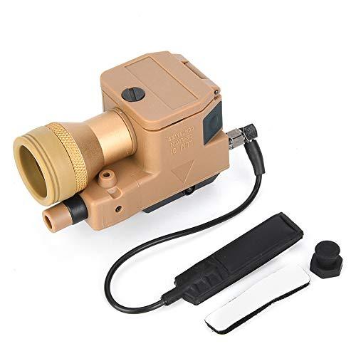 VGEBY Linterna de Paintball de Caza, Polímero de Alta Resistencia al Aire Libre Mini tácticas de tamaño Airsoft Hunting Paintball Linterna LED para riel de guía Picatine de 20 MM(EX214-RAL8000-NUEVO)