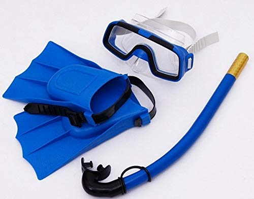 Delavala Snorkel Set, Anti-Fog Swimming Goggles Mask Flippers Scuba Diving Snorkel Diving Combo Set