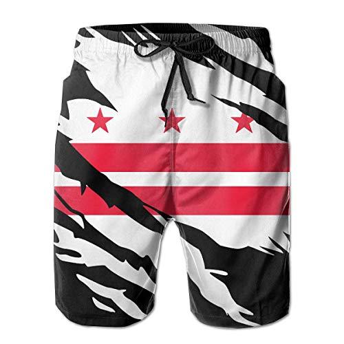 Arrancó la Bandera de Washington DC para Hombres Pantalones Cortos Traje de...