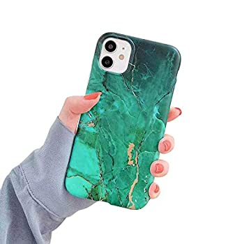 MUNDULEA Compatible with iPhone 11 pro Case Marble Green Soft TPU Matte Luxury Fashion Cover for iPhone 11 pro  Marble Green