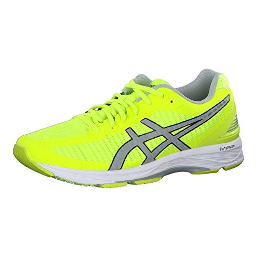 ASICS Gel-DS Trainer 23 Mens Running Trainers T818N Sneakers Shoes (UK 10 US 11 EU 45, Safety Yellow mid Grey White 0796)