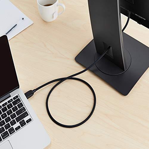 Amazon Basics - Geflochtenes HDMI-Kabel, 0,9 m