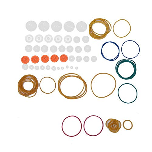 Riemenscheiben Set, 84 Teile/satz Hochleistungs DIY Modell Spielzeug Riemenscheiben Set Übertragungsriemenscheibe Gummiband Kombination Set für DIY Projekte