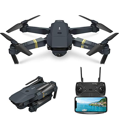 EACHINE Drone Pliable E58 Drone avec caméra 2.0MP 720P HD【Vive la France!】 Drone x Pro Drone E58 Authentique / Livré par Amazon