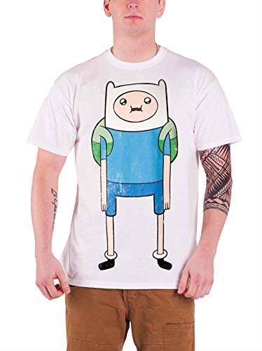 Adventure Time Finn Print offiziell Herren Nue Weiß T Shirt