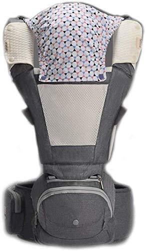 YXF Sedile per Bambini 4-in-1 Cabrio Carrier Marsupio, Zaino ergonomico 360 Marsupio, Four Seasons Universale - for 8-33Lbs - Baby Carriers Anteriore e Posteriore, 2 Colori, Grigio (Color : Gray)