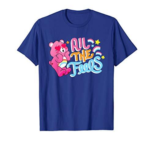 Care Bears Cheer Bear Hearts and Rainbows T-Shirt