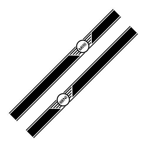 DMKJ 1 Par De Pegatinas De Falda De Cintura Lateral Coche Calcomanías Carrocería Puerta para Mini para Cooper Clubman Counrtyman F54 F55 F60 R55 R56 R60 Accesorios (Color : Negro)