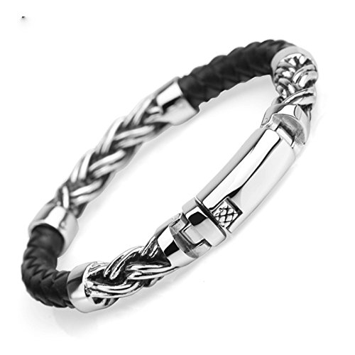 Aooaz Leather Bangle Bracelet Silver 21Cm Holiday Graduation Gift