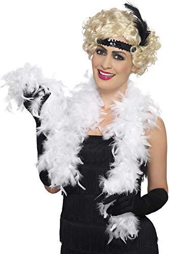 Smiffys Boa, 50g, blanc, à plumes, 150cm