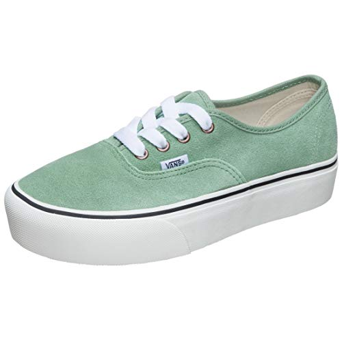 Vans Women's Authentic Platform 2.0 Vintage Lace Trainers - Creme de Menthe/Snow White - UK 5