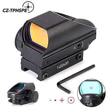 CZ-TPHSPE Rifle Scope Red Dot Reflex Shot 1X22X33 Holographic Sight Instructions Multi-Reticle Mounted Gun Scope
