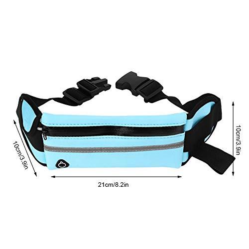 Aufbewahrungstasche für Mobiltelefone Blaue, ultradünne Taillentasche, einstellbar für Marathon-Wanderungen, Laufen, Radfahren(blue)