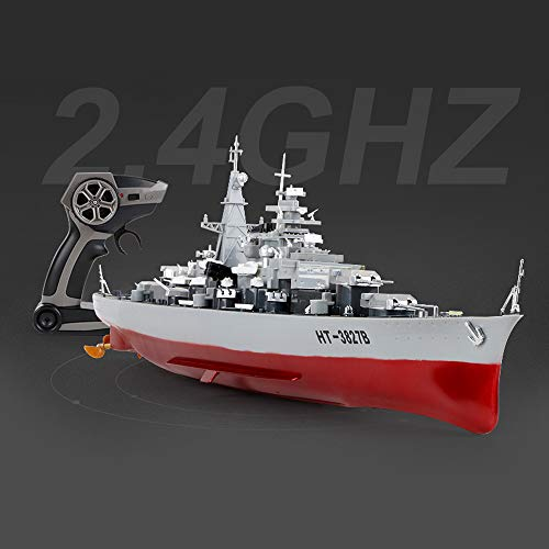 SOWOFA Remote Control Warship 1:360 Remote Control Ship Model 27.9 inches (71CM) Large Warship Military Model Finished Simulation Children's Toys