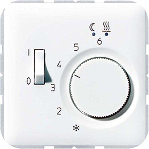 Jung FTRCD231WW Fussbodenheizungsregler AC 230 V, Weiß