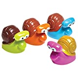 amscan- Racing Snail Toy Party Favor-4 Pcs. Caracol de carreras de juguete para fiesta – 4 unidades, Multicolor, pack de 1 (9902058) , color/modelo surtido