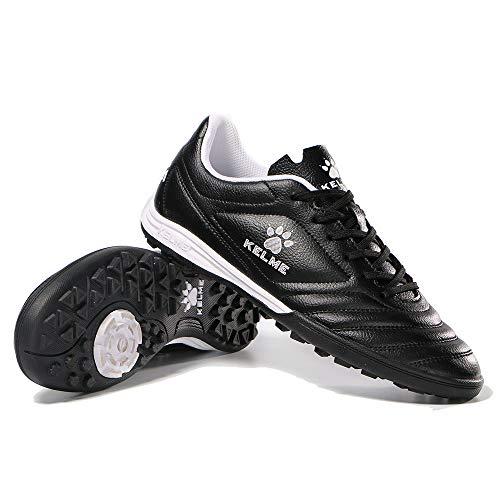 KELME Men Indoor Turf Soccer Shoe, Arch Support Soccer Cleats, Performance Futsal Sneaker Black US 9