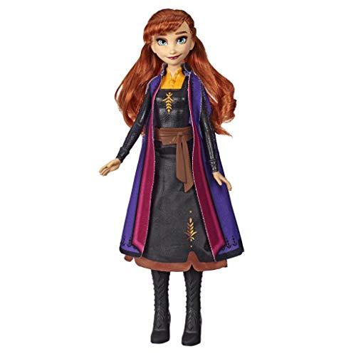Disney Die Eiskönigin Lichtzauber Anna, aufleuchtende Modepuppe, inspiriert durch Disneys Die Eiskönigin 2 – Spielzeug für Kinder ab 3 Jahren