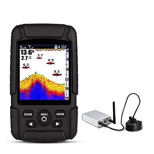 JFF Sonda Buscador De Peces Sonda Subacuática Detector Inteligente Buscador De Peces Equipo De Pesca Al Aire Libre Sonda De Profundidad para Barco Pesca Pesca En El Mar
