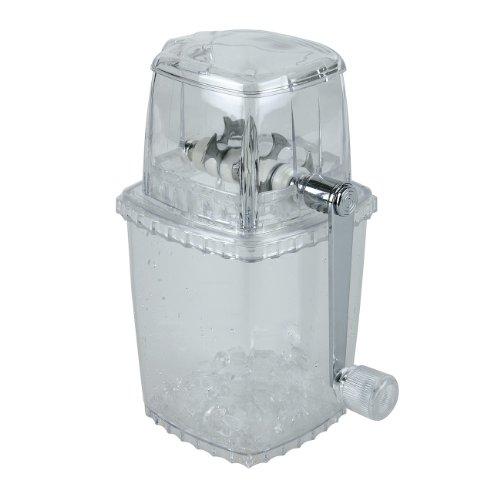 APS 36017 durchsichtiger Kunststoff Ice Crusher mit Edelstahl Schneider, 12 x 12 x 24 cm