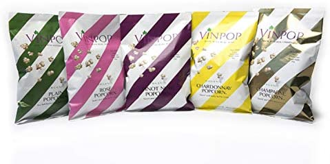 VINPOP Organic Popcorn Variety Flight Pack 2 Ounce Bag 5 Pack Made with Wine Popcorn Non GMO product image