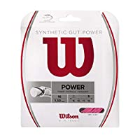 Wilson(ウイルソン) テニス ストリング モノフィラメント ガット SYNTHETIC GUT POWER(シンセティックガットパワー) 16 PINK(シンセティックガットパワー 16 ピンク)単張り PINK WRZ945800 ウィルソン