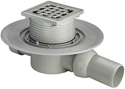 Viega 557119 Badablauf Advantix Modell 4935.1 mit Aufsatz, 100 x 100 mm