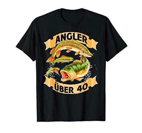 Angler über 40 - Angel T Shirt - Geburtstags Geschenk